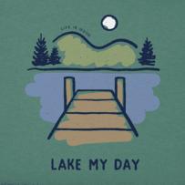 Women's Lake My Day Long Sleeve Crusher Vee