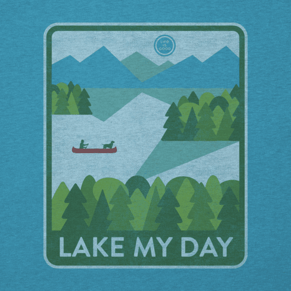 Women's Lake My Day Poster Cool Vee