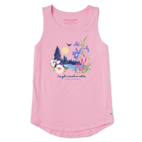 Women's Lakescape Crush on Nature High-Low Crusher-LITE Tank
