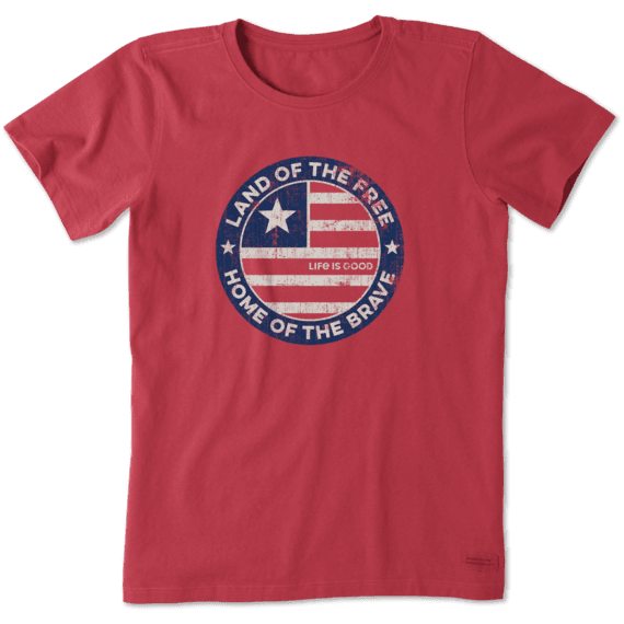 Women's Land Of The Free Coin Crusher Tee