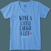 Women's Laugh A Lot Crusher Vee