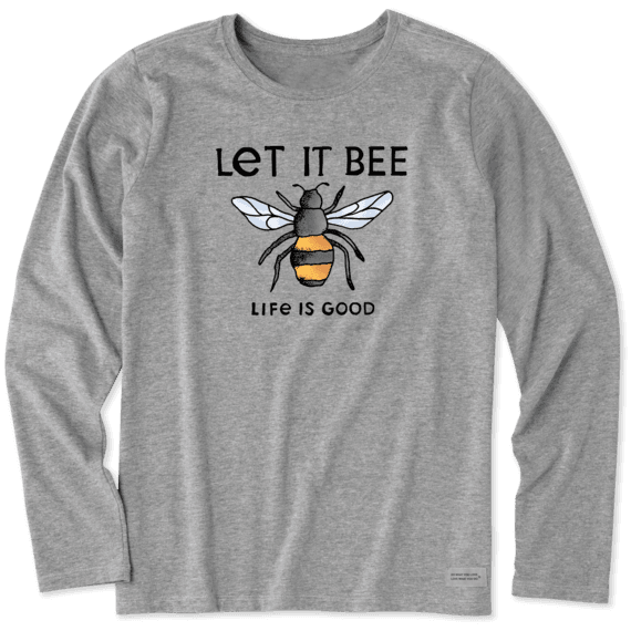 Women's Let It Bee Long Sleeve Crusher Tee