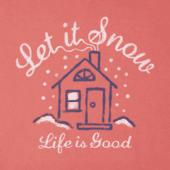 Women's Let It Snow Home Long Sleeve Crusher Vee