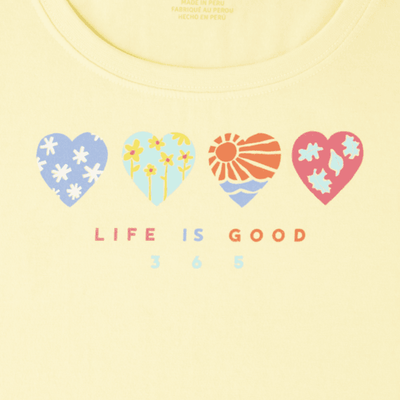 Women's Life Is Good Crusher Scoop Neck Tee
