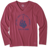 Women's Life Isn't Easy Fight Long Sleeve Crusher Vee