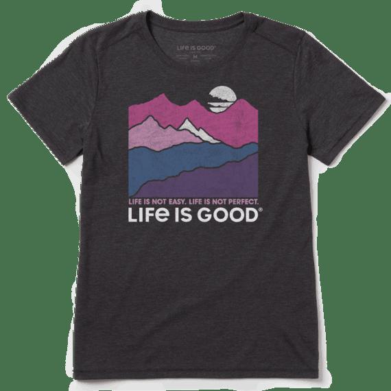 Women's Life Isn't Easy Mountains Cool Tee