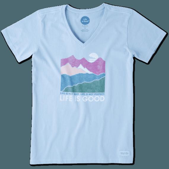 Women's Life Isn't Easy Mountains Crusher Vee