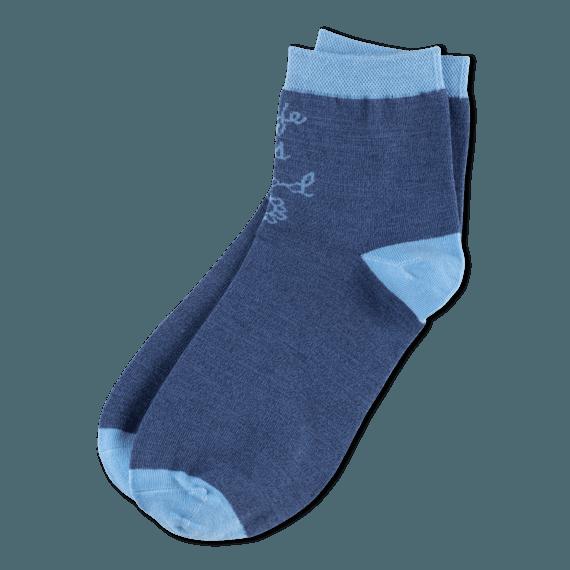Women's Life is Good Daisy Anklet Socks