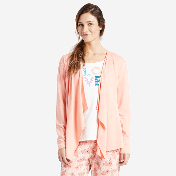 Women's Life is Good Fly Away Sleep Cardigan