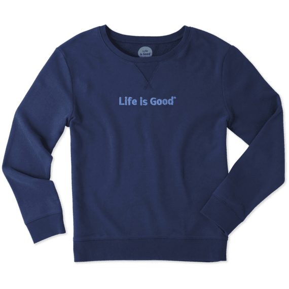 Women's Life is Good Go-To Crew