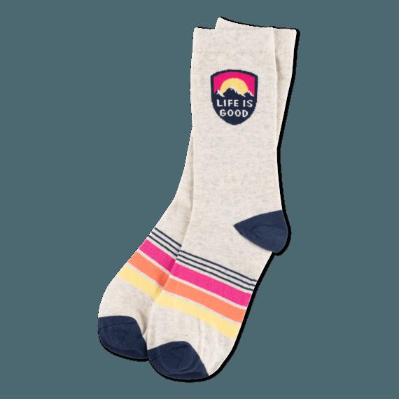 Women's Life is Good Mountain Crew Socks