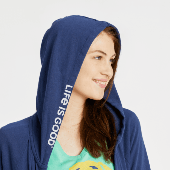 Women's Life is Good Simply True French Terry Beyond Hip Hoodie