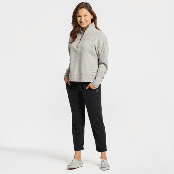 Women's Life is Good Simply True French Terry Quarter Zip