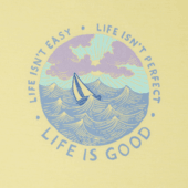 Women's Life isn't Easy Ocean Cool Tee