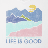 Women's Life isn't easy Mountains Smooth Scoop Tee