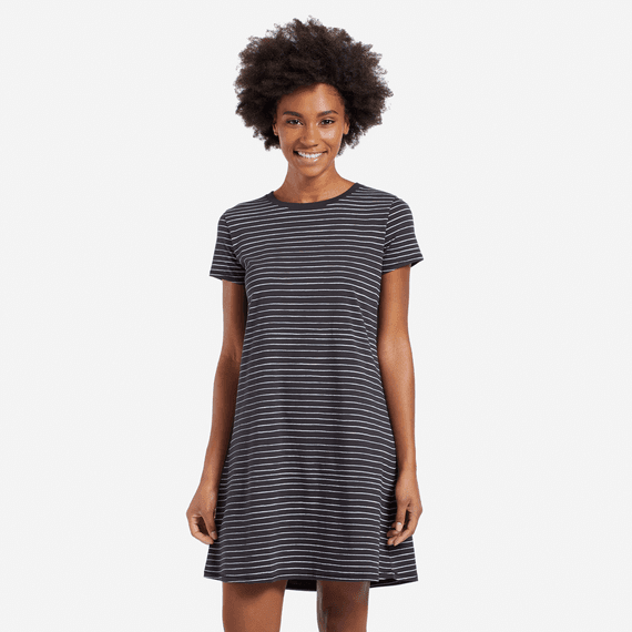 Women's Line Pattern Dress