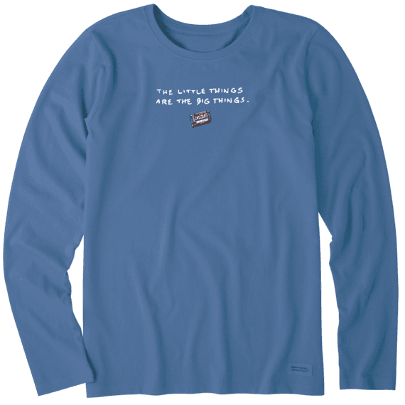 Women's Little Things Chocolate Long Sleeve Crusher Tee