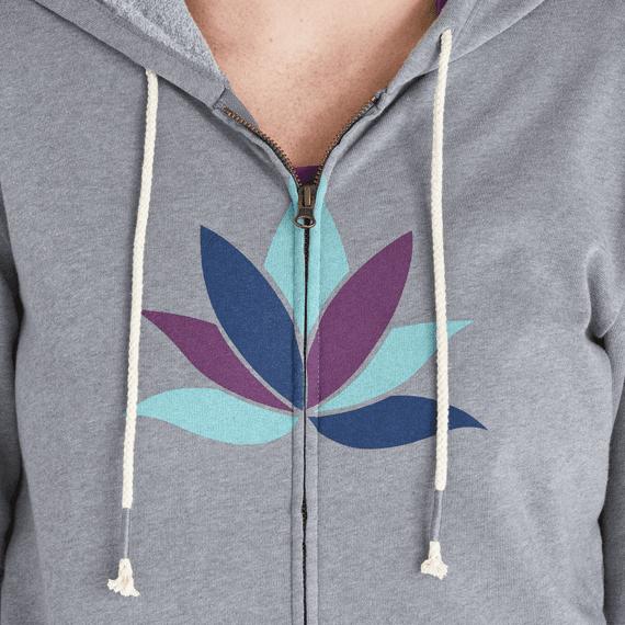 Women's Lotus Colorblock Simply True Zip Hoodie