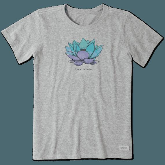 Women's Lotus Flower Engraved Crusher Tee