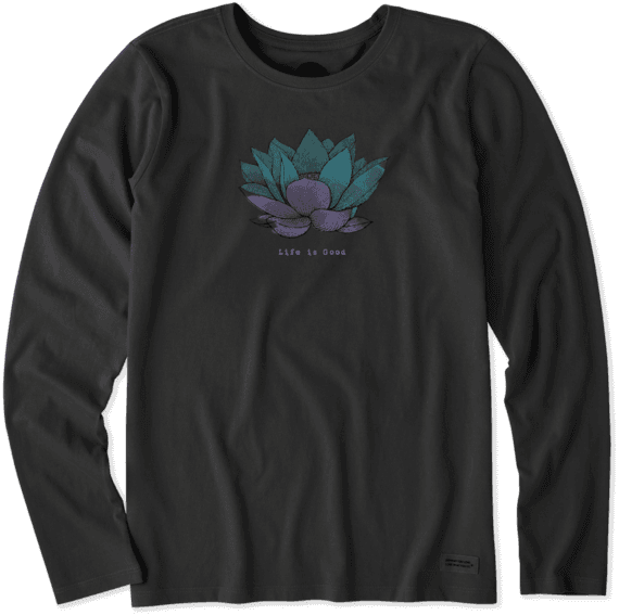 Women's Lotus Flower Long Sleeve Crusher Tee