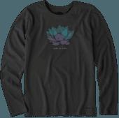 Women's Lotus Flower Long Sleeve Crusher Tee