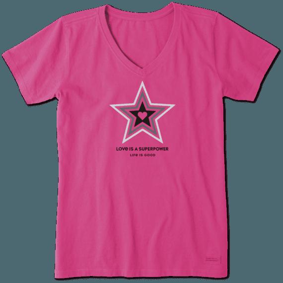 Women's Superpower Star Crusher Vee