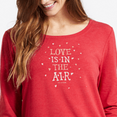 Women's Love Is In The Air Supreme Scoop Pullover