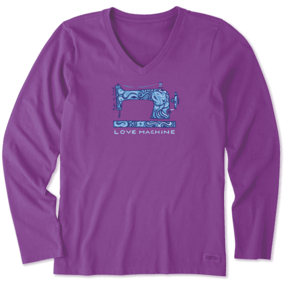 Women's Love Machine Long Sleeve Crusher Vee