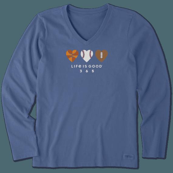 Women's Love Sports 365 Long Sleeve Crusher Vee