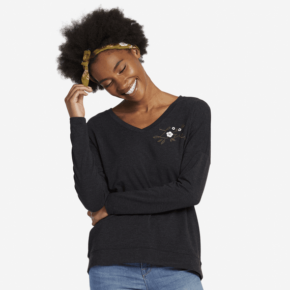 Women's Love Supreme Blend Wide Vee Pullover