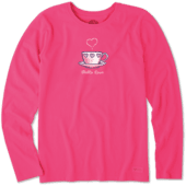 Women's Love Tea Cup Long Sleeve Crusher Tee