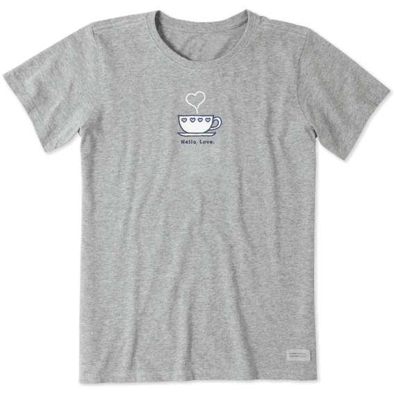 Women's Love Teacup Vintage Crusher Tee