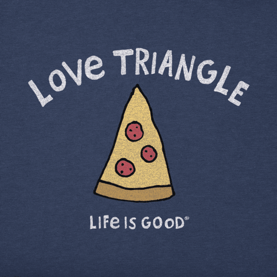 Women's Love Triangle Pizza Crusher Tee
