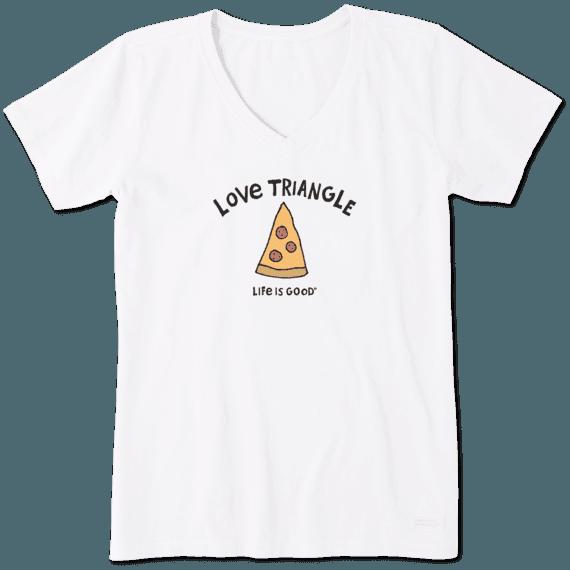 Women's Love Triangle Pizza Crusher Vee