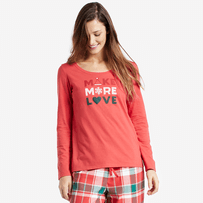 Women's Make More Love Long Sleeve Sleep Tee