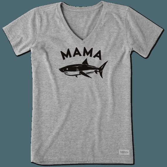 Women's Mama Shark Crusher Vee