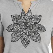 Women's Mandala Bloom Favorite Split Neck Tee