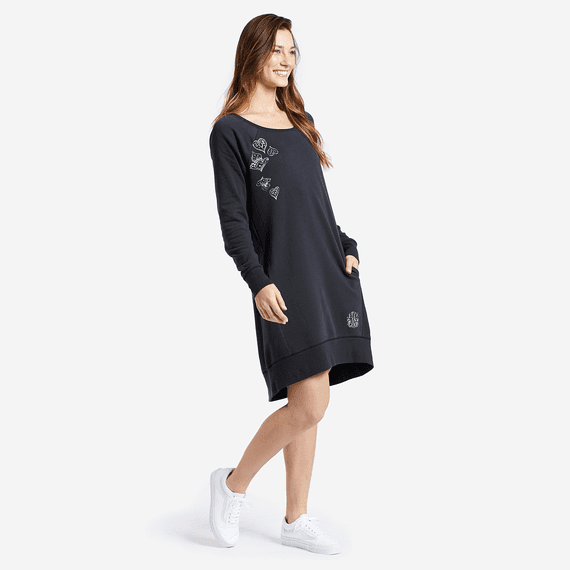 Women's Mandala Sweatshirt Dress