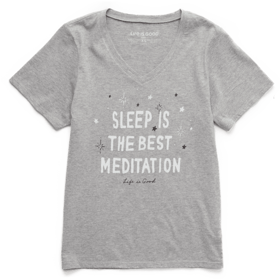 Women's Meditation Moon and Stars Short Sleeve Sleep Set