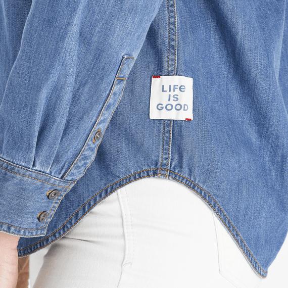 Women's Medium Wash Forever Denim Shirt