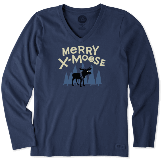 Women's Merry Xmoose Long Sleeve Crusher Vee