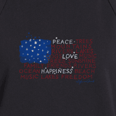 Women's Message Flag Simply True Hoodie