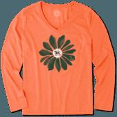 Women's Miami Daisy Long Sleeve Cool Vee