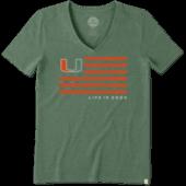 Women's Miami Flag Cool Vee
