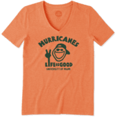 Women's Miami Hurricanes Peace Jake Cool Vee