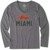 Women's Miami Pennant Long Sleeve Cool Vee