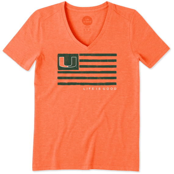Women's Miami Team Flag Cool Vee