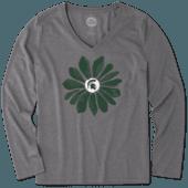 Women's Michigan State Daisy Long Sleeve Cool Vee
