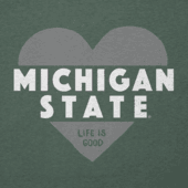 Women's Michigan State Heart Knockout Cool Vee