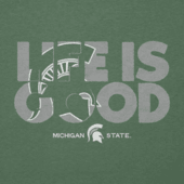 Women's Michigan State Life is Good Cool Vee